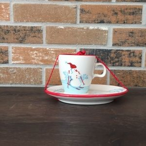 AC203 Starbucks Christmas  Cup & Cookie plate